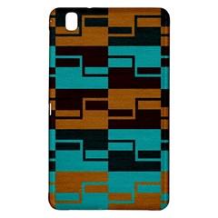 Fabric Textile Texture Gold Aqua Samsung Galaxy Tab Pro 8 4 Hardshell Case by Jojostore