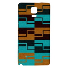 Fabric Textile Texture Gold Aqua Galaxy Note 4 Back Case by Jojostore