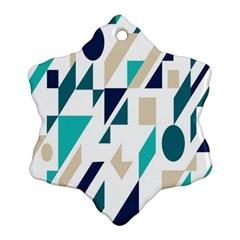 Geometric Snowflake Ornament (2 Side) by Jojostore
