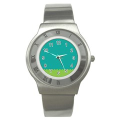 Green Blue Stainless Steel Watch by Jojostore