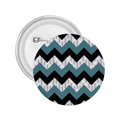 Green Black Pattern Chevron 2 25  Buttons by Jojostore