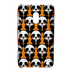 Halloween Night Cute Panda Orange Nokia Lumia 620 by Jojostore
