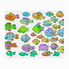 Fishes Col Fishing Fish Small Glasses Cloth (2 Side) by Jojostore