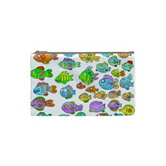 Fishes Col Fishing Fish Cosmetic Bag (small)  by Jojostore