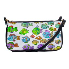 Fishes Col Fishing Fish Shoulder Clutch Bags by Jojostore