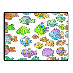 Fishes Col Fishing Fish Fleece Blanket (small) by Jojostore