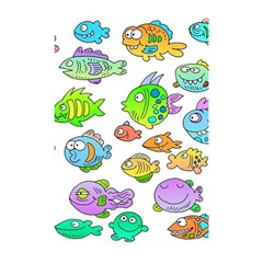 Fishes Col Fishing Fish Shower Curtain 48  X 72  (small)  by Jojostore