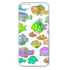 Fishes Col Fishing Fish Apple Seamless Iphone 5 Case (clear) by Jojostore