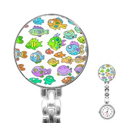 Fishes Col Fishing Fish Stainless Steel Nurses Watch by Jojostore
