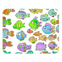 Fishes Col Fishing Fish Double Sided Flano Blanket (large)  by Jojostore