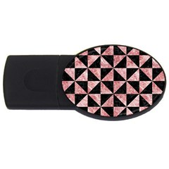 Triangle1 Black Marble & Red & White Marble Usb Flash Drive Oval (4 Gb) by trendistuff
