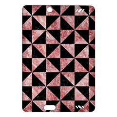 Triangle1 Black Marble & Red & White Marble Amazon Kindle Fire Hd (2013) Hardshell Case by trendistuff
