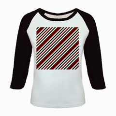 Line Christmas Stripes Kids Baseball Jerseys by Jojostore