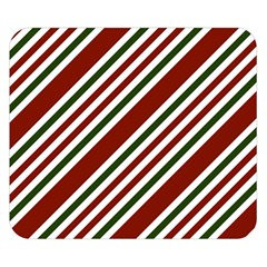 Line Christmas Stripes Double Sided Flano Blanket (Small)  by Jojostore