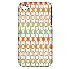 Lab Pattern Hexagon Multicolor Apple Iphone 4/4s Hardshell Case (pc+silicone) by Jojostore