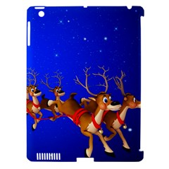 Holidays Christmas Deer Santa Claus Horns Apple Ipad 3/4 Hardshell Case (compatible With Smart Cover) by Jojostore