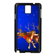 Holidays Christmas Deer Santa Claus Horns Samsung Galaxy Note 3 N9005 Case (black) by Jojostore