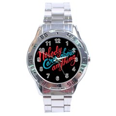 Madmen Nobody Cares Stainless Steel Analogue Watch by Jojostore