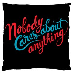 Madmen Nobody Cares Large Cushion Case (two Sides) by Jojostore