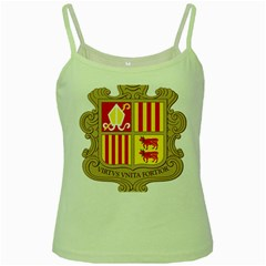 Coat Of Arms Of Andorra Green Spaghetti Tank by abbeyz71