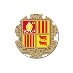 Coat Of Arms Of Andorra Magnet 3  (round) by abbeyz71