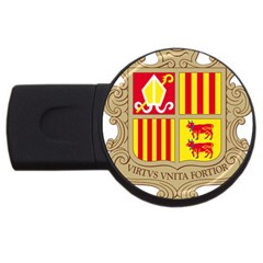 Coat Of Arms Of Andorra Usb Flash Drive Round (4 Gb)  by abbeyz71