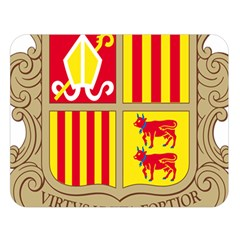 Coat Of Arms Of Andorra Double Sided Flano Blanket (large)  by abbeyz71