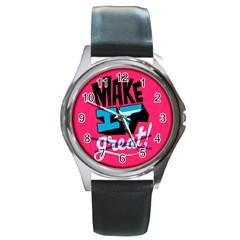 Make It Round Metal Watch