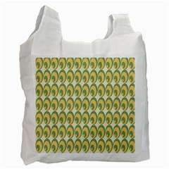 Pattern Circle Green Yellow Recycle Bag (one Side) by Jojostore