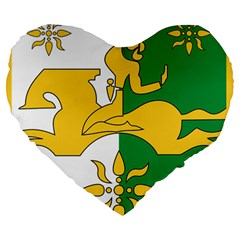 Coat Of Arms Of Abkhazia Large 19  Premium Heart Shape Cushions by abbeyz71