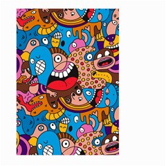 People Face Fun Cartoons Large Garden Flag (two Sides) by Jojostore