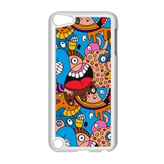 People Face Fun Cartoons Apple Ipod Touch 5 Case (white) by Jojostore