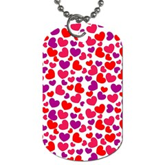 Love Pattern Wallpaper Dog Tag (two Sides) by Jojostore