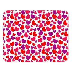 Love Pattern Wallpaper Double Sided Flano Blanket (large)  by Jojostore