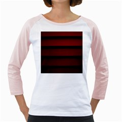Line Red Black Girly Raglans