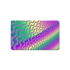 Line Colour Wiggles Magnet (name Card) by Jojostore