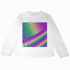 Line Colour Wiggles Kids Long Sleeve T Shirts by Jojostore
