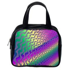 Line Colour Wiggles Classic Handbags (one Side) by Jojostore