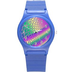 Line Colour Wiggles Round Plastic Sport Watch (s) by Jojostore