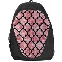 Tile1 Black Marble & Red & White Marble (r) Backpack Bag by trendistuff