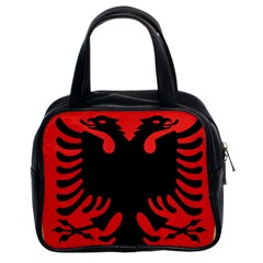 Coat Of Arms Of Albania Classic Handbags (2 Sides) by abbeyz71