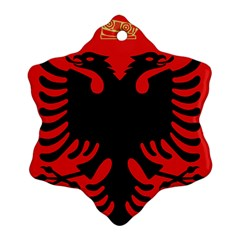 Coat Of Arms Of Albania Snowflake Ornament (2 Side) by abbeyz71