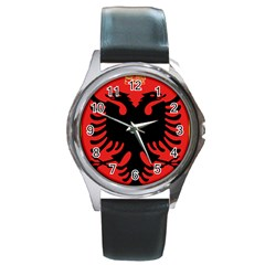 Coat Of Arms Of Albania Round Metal Watch by abbeyz71