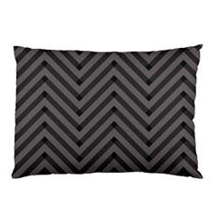 Background Gray Zig Zag Chevron Pillow Case (two Sides) by Jojostore