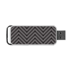Background Gray Zig Zag Chevron Portable Usb Flash (one Side) by Jojostore