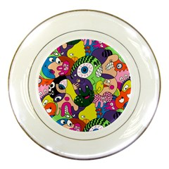 Another Weird Pattern Porcelain Plates by Jojostore
