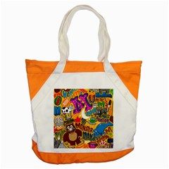 M Pattern Accent Tote Bag by Jojostore