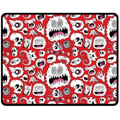 Another Monster Pattern Double Sided Fleece Blanket (medium)  by Jojostore