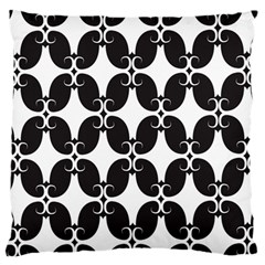 Black Flower Accents Standard Flano Cushion Case (one Side)