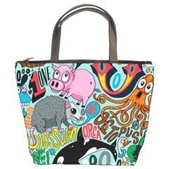 Alphabet Patterns Bucket Bags by Jojostore